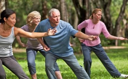 Gemeinsames Tai-Chi im Park macht Freude und ist ein optimales und schonendes Training für die Gelenke.