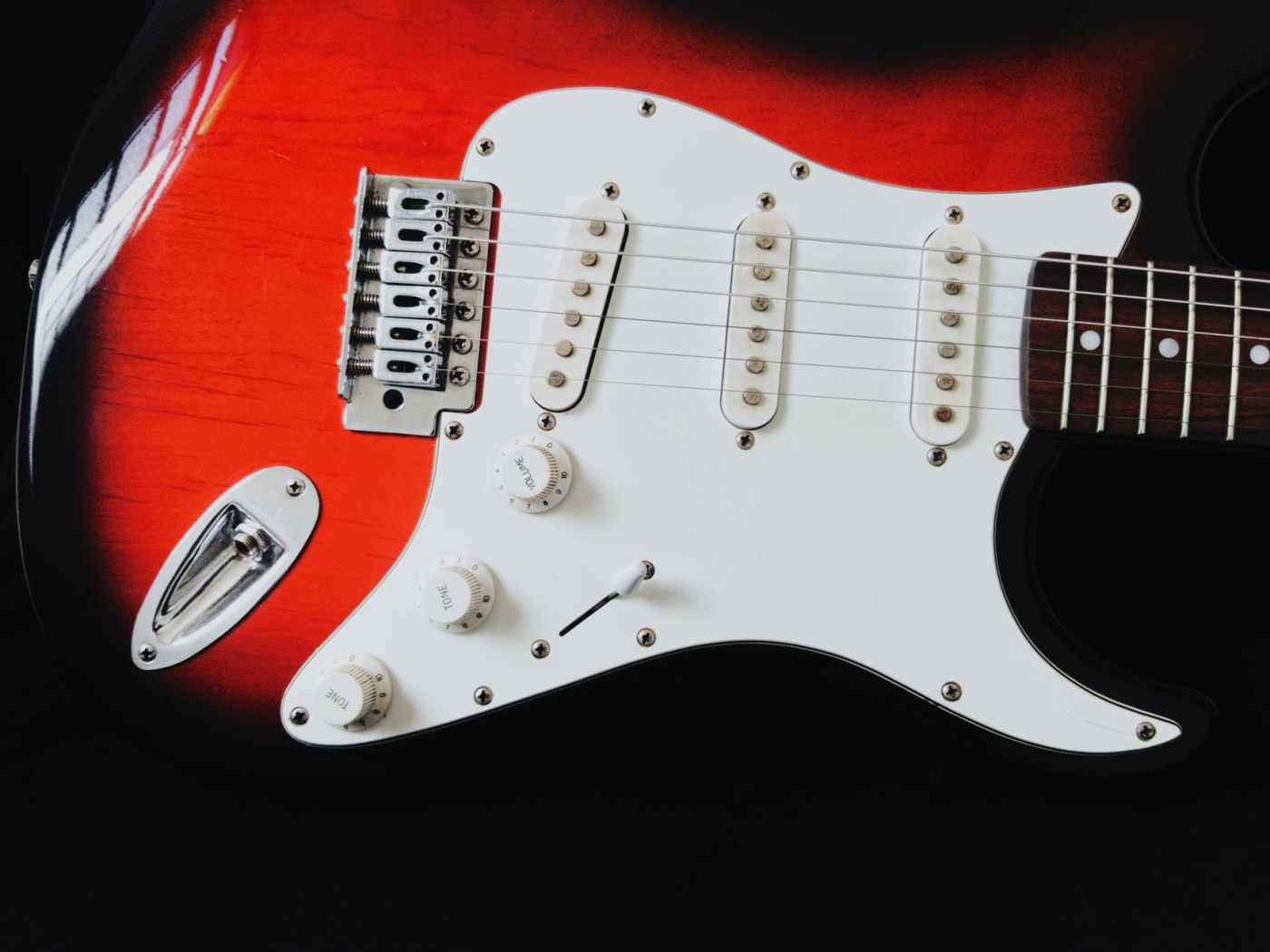 photo of electric guitar