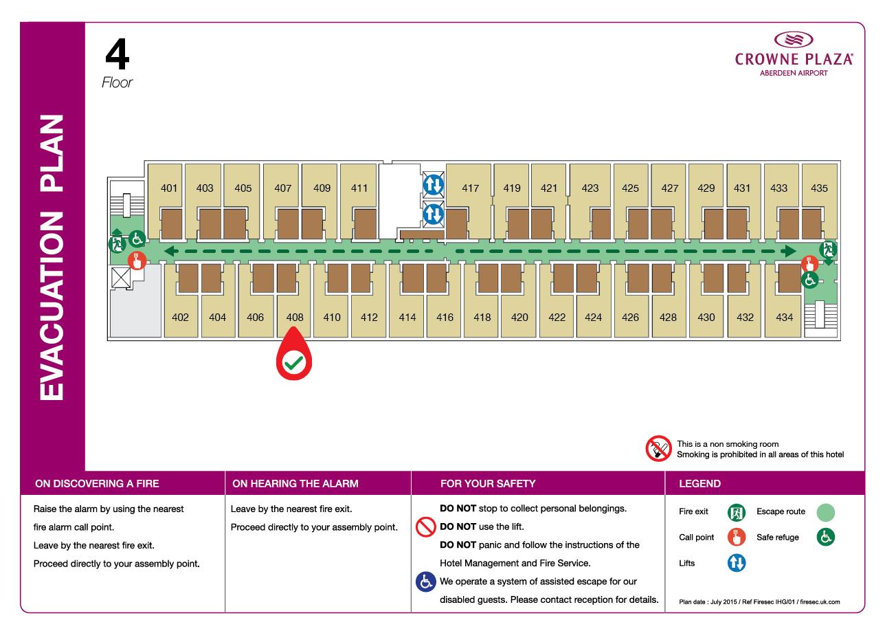 Hotel Evacuation Plan