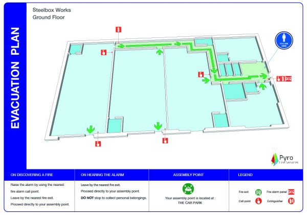 3D Warehouse Evacuation Plan-80