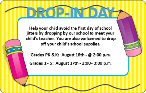 Drop In Day Flyer