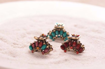 All Colors Six Stones Rhinestone Mini Hair Claw