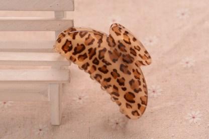 Brown Leopard Pattern Hair Claw Acrylic