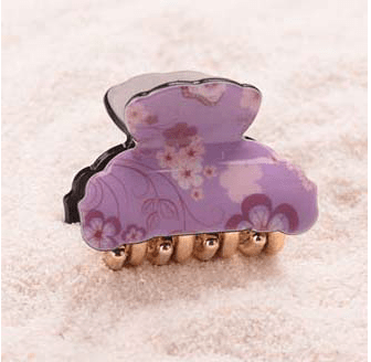 Purple Small Acrylic Hair Claw