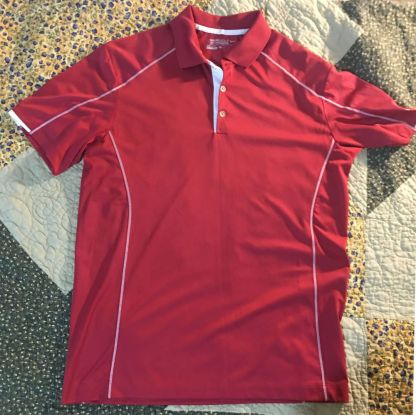 Red Nike Golf Shirt Dri-Fit Mens Medium