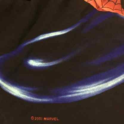 Marvel Spiderman shirt detail