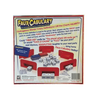 Faux-Cabulary board game back