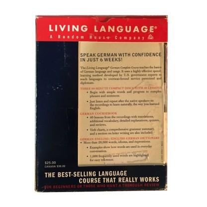 Living Language German Course Back