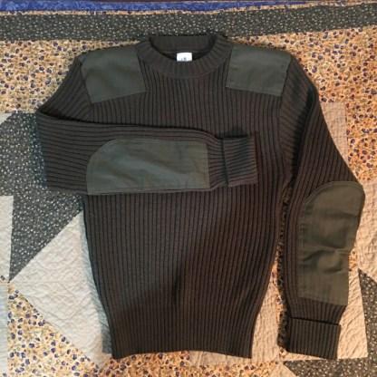 Green Military Surplus Wool Sweater