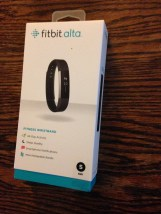 The Fitbit Alta arrived in a nice, heavy box