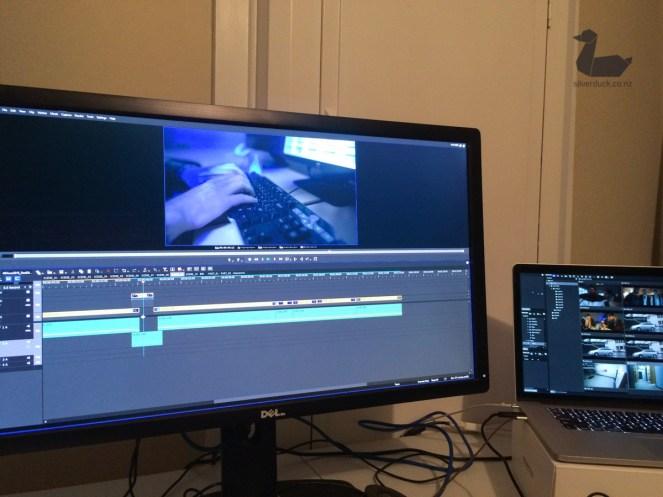 Editing back at HQ. silverduck160918-8533