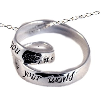 Gift Best Friend Sterling Silver Infinity Charm Necklace Friends Make Your World