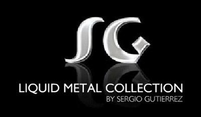 Sergio Gutierrez Liquid Metal Wide Open Mesh Band Ring
