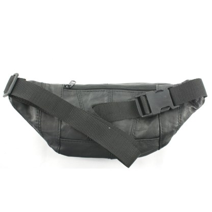 Silver Fever® 4 Lrg Compartments Fanny Pack Black