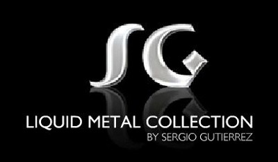 Sergio Gutierrez Liquid Metal Bracelet Wide Diamond Pattern