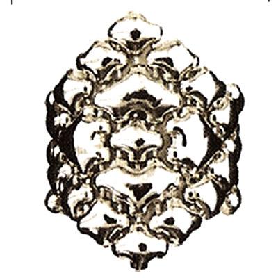Sergio Gutierrez Liquid Metal Flexible Large Diamond Shape Cocktail Ring Sz7