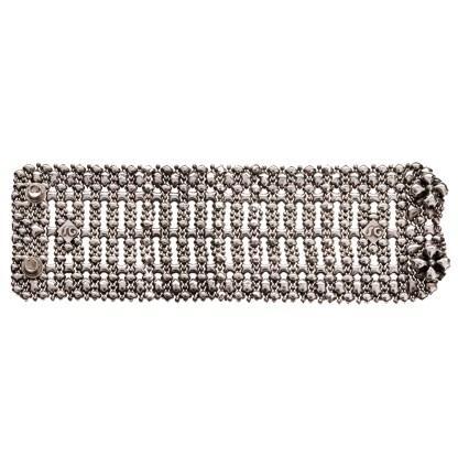 Sergio Gutierrez Liquid Metal Wide Mesh Lace Cuff Bracelet B98