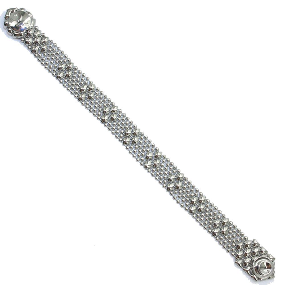 537db7b646d Sergio Gutierrez Liquid Metal Mesh Cuff Bracelet Tiny Ball Diamond ...