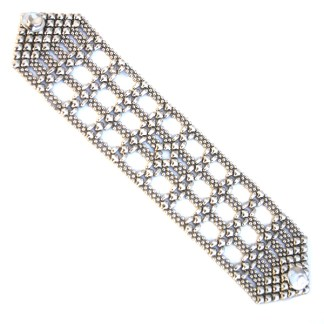Sergio Gutierrez Liquid Metal Tiny Ball Square Filigree Mesh Style Bracelet TB38