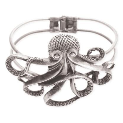 Silver Fever® Octopus Cuff Bracelet