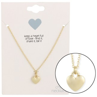 Silver Fever® Gift Ready Tiny Charm Necklace Heart