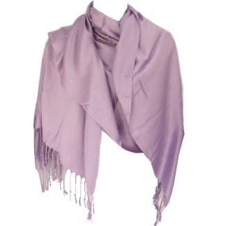 Nepal Solid Lavender 2 Ply Pashmina Shawl Scarf Stole