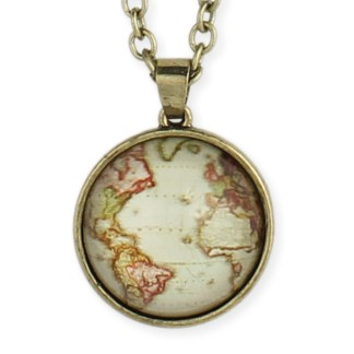 Silver Fever® Globe Pendant Necklace