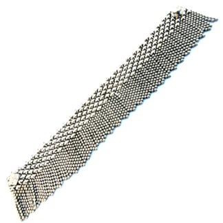 Sergio Gutierrez Liquid Metal Tiny Ball Fringe Skirt Mesh Style Bracelet TB37