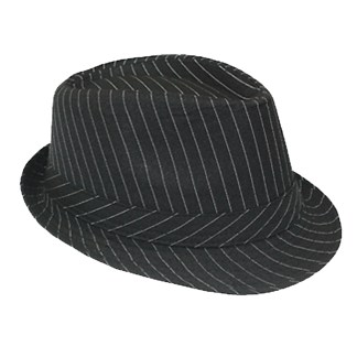 Silver Fever Stripped Panama Fedora for Men or Women
