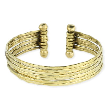 Silver Fever® Multi Row Metal Cuff Bracelet
