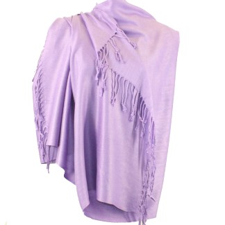 Nepal Solid Wine Light Lavender 2 Ply Pashmina Shawl Scarf Stole