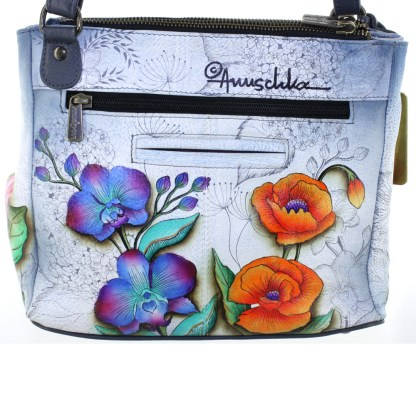 Anuschka 3 Compartment Convertible Tote Shoulder Bag Floral Fantasy