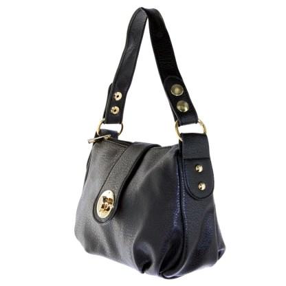 Silver Fever® Speedy to Crossbody Versatile Mini Satchel Handbag Black