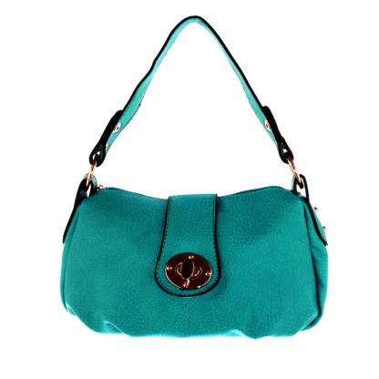 Silver Fever® Speedy to Crossbody Versatile Mini Satchel Handbag Mint Blue