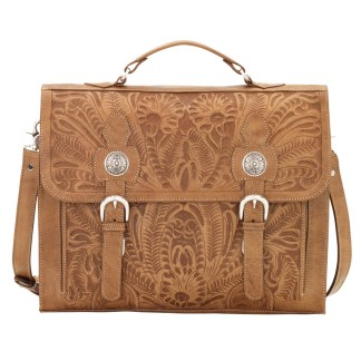 American West Stagecoach Collection  Multi compartment laptop briefcase