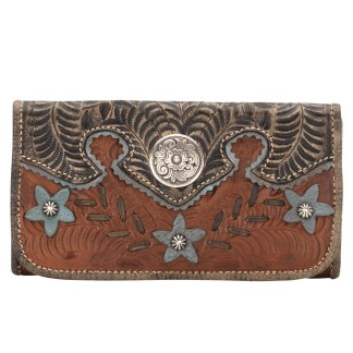 American West Desert Wildflower Collection  Ladies' Tri-Fold Wallet