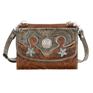 American West Texas Two Step Collection  Small Crossbody Bag/Wallet