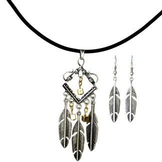 Silver Fever® Indian Feather Dream Catcher Silver
