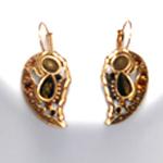 Black & Brown Tiger's Eye Necklace Set Antiqued Gold