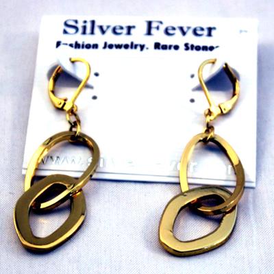 Open Sculptured Oval Link 18Kt Gold Plated Necklace SET