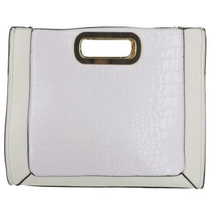 Silver Fever® Classic Cluch Shoulder Cross Body Bag Handbag White