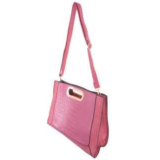 Silver Fever® Classic Cluch Shoulder Cross Body Bag Handbag Fusia