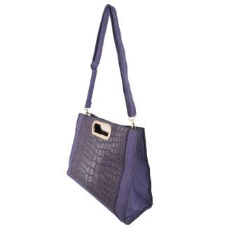 Silver Fever® Classic Cluch Shoulder Cross Body Bag Handbag Purple