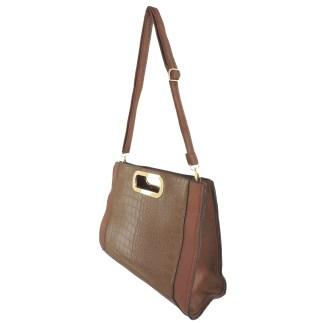 Silver Fever® Classic Cluch Shoulder Cross Body Bag Handbag Brown