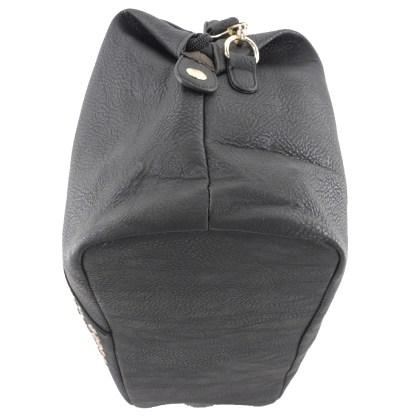 Silver Fever® Doctor's Satchel Studded V-Shape Deatil Black