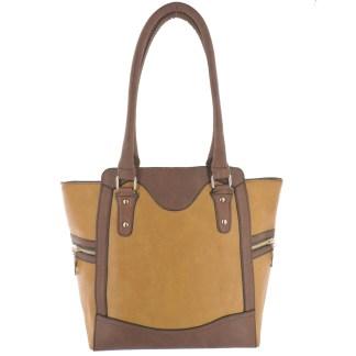 Silver Fever® Business Tote Zipside Handbag Light Brown Brown