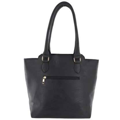 Silver Fever® Business Tote Zipside Handbag Black