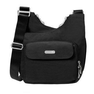 Baggallini Cris-Cross Crossbody Shoulder Bag Black