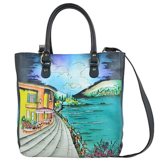 Anna by Anuschka Tote Handbag Vertical Moonlight Capri