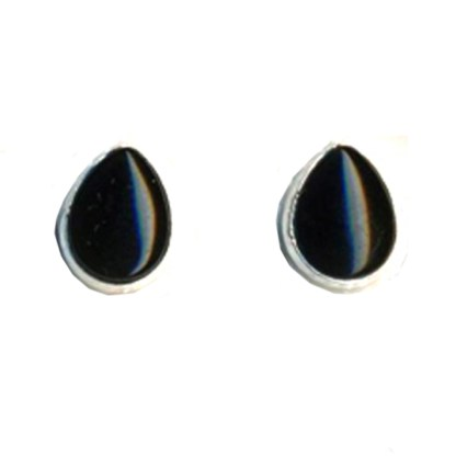 Sterling Silver Teardrop Post Earrings Genuine Onyx Spiritual Inspiration